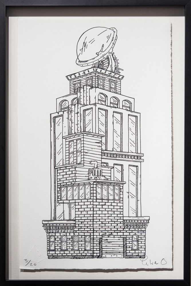 Prometheus Tower - Framed