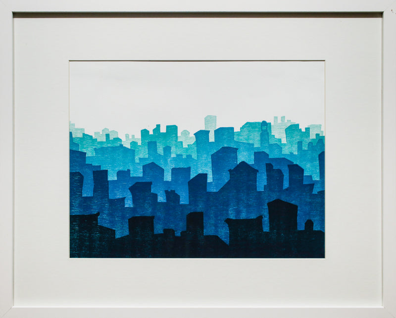 Urban Ocean (woodblock)