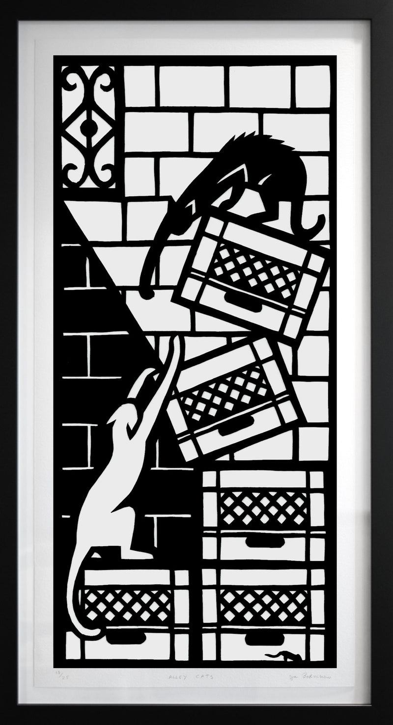 Alley Cats (framed print)