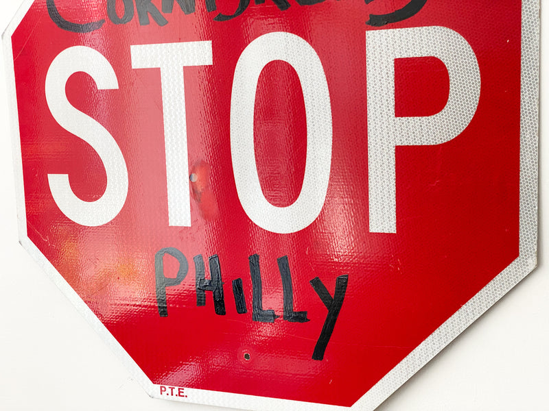 Cornbread Philly Stop Sign