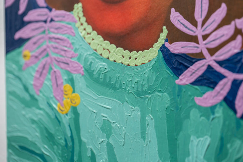 Untitled (Color Fade Woman with Lavender Vines and Golden Berries)