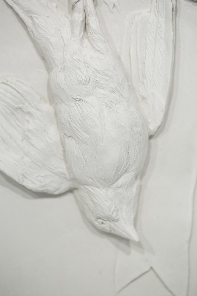 Is it ever enough? after Houdon's The Dead Thrush (La Grive Morte)