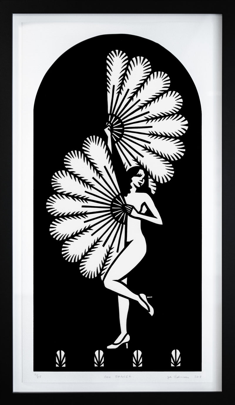 Fan Dancer (framed print)