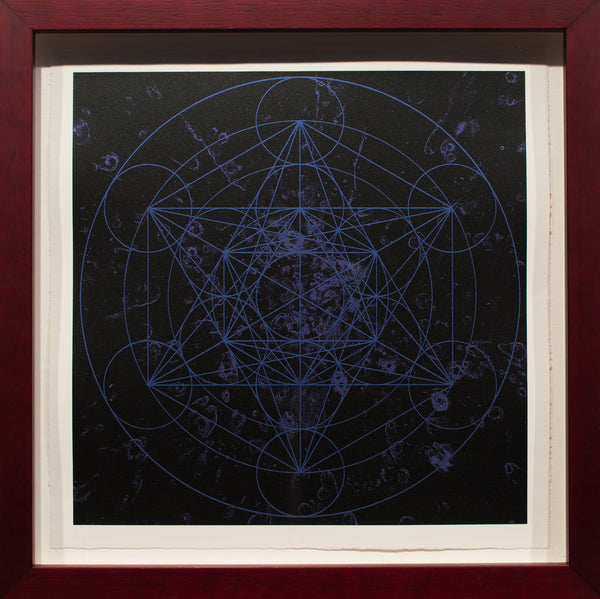 Metatrons Cube in Blue Indigo and Black