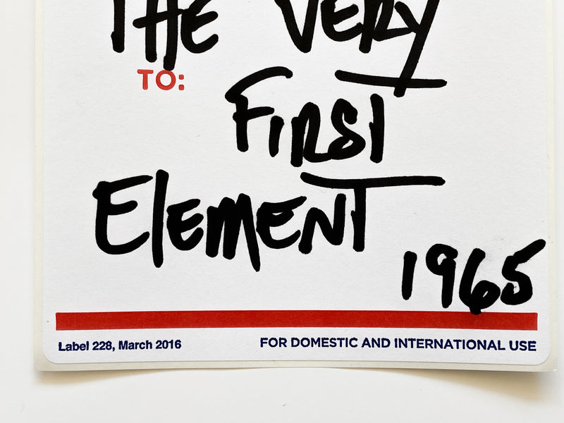 Postal Label Series: The Very First Element 1965
