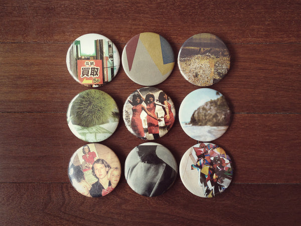 "Button Pack from ""Connections with Strangers"" by Mackenzie Pikaart"