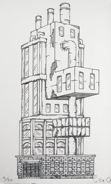 Trapdoor Tower - Unframed