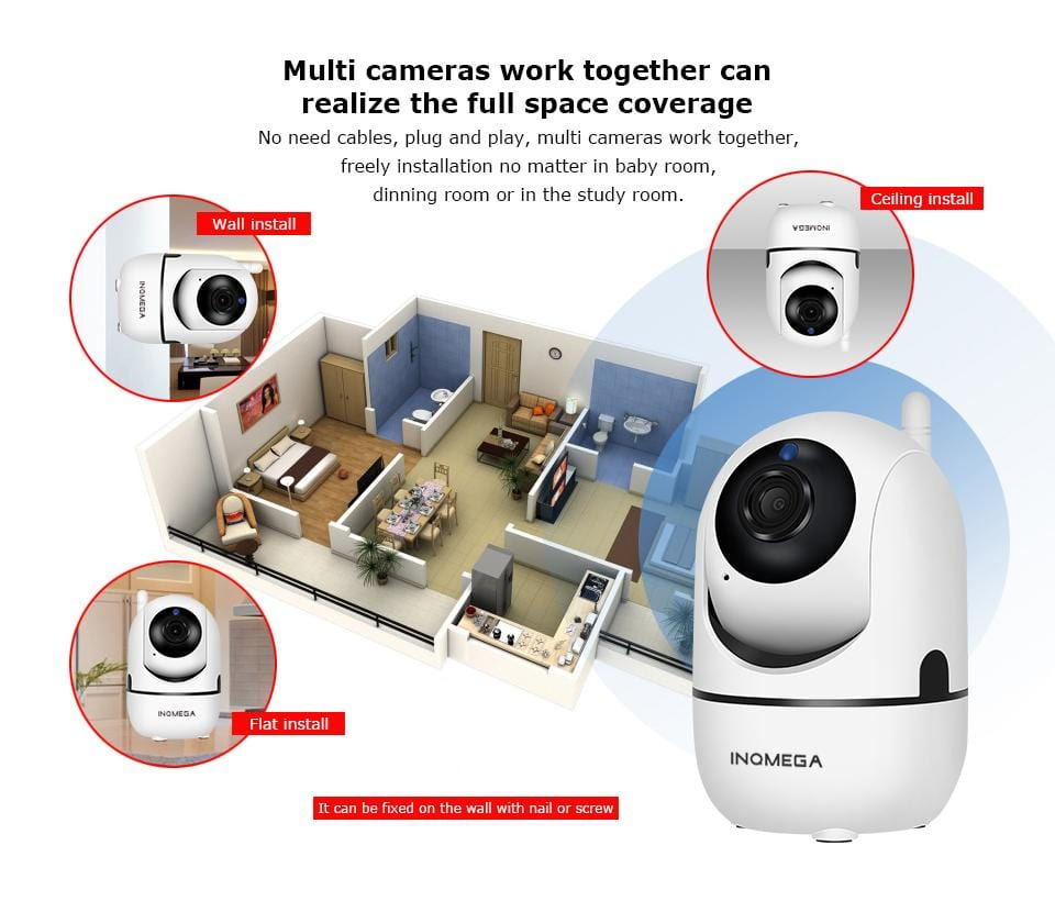 1080P Cloud Wireless Auto Monitoring Camera - Home / Baby Security