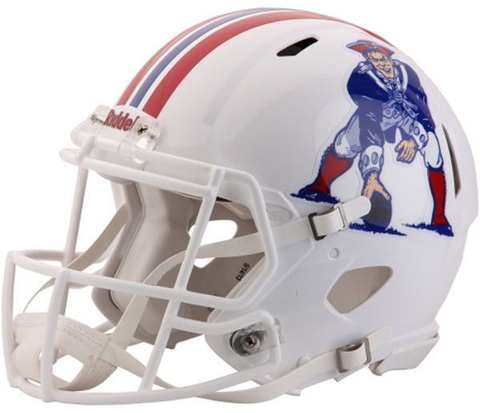 New England Patriots (White) Revolution Speed Authentic Helmet