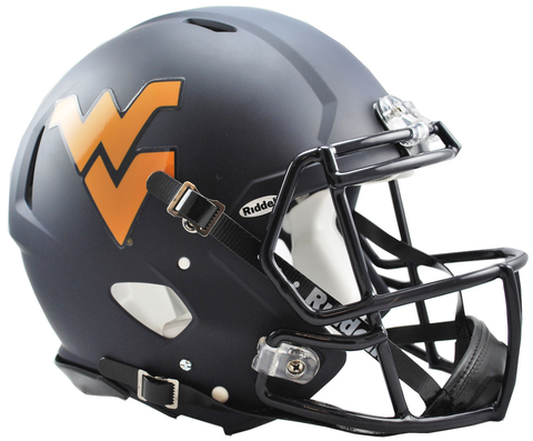 West Virginia (Matte Navy) Revolution Speed Authentic Helmet