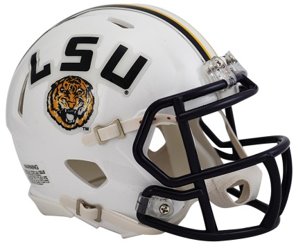 LSU White Speed Mini Helmet