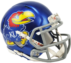 Kansas (Large Decal) Speed Mini Helmet