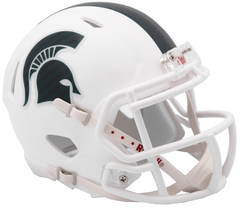 Michigan State (Matte White) Speed Mini Helmet