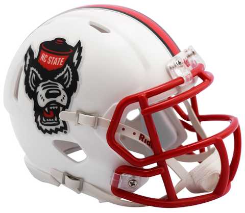 North Carolina State Red Speed Mini Helmet