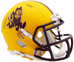 Arizona State Satin Black Speed Mini Helmet