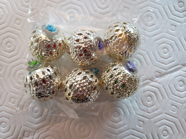 6 pack filigree jingle balls