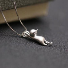 Load image into Gallery viewer, 925 Sterling Silver Cats Pendant Necklaces