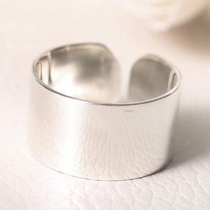 925 Sterling Silver Beautiful Smooth Open Finger Ring