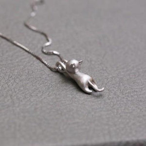 925 Sterling Silver Cats Pendant Necklaces