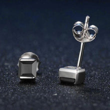 Load image into Gallery viewer, Black Chalcedony 925 Sterling Silver Simple Stud Earrings