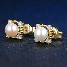 Load image into Gallery viewer, Freshwater Pearl 925 Sterling Silver Earring Jewelry