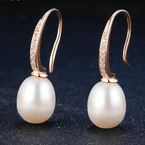 Freshwater Pearl 925 Sterling Silver Drop Earrings