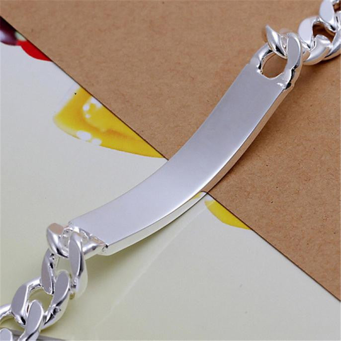925 Solid Silver Friendship Bracelet Jewelry