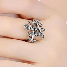 Load image into Gallery viewer, Olive Branch Ring with CZ Leaves