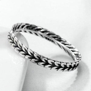 925 Sterling Silver Stackable Ring Wheat Design