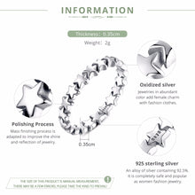Load image into Gallery viewer, Stackable Star Ring Sterling .925