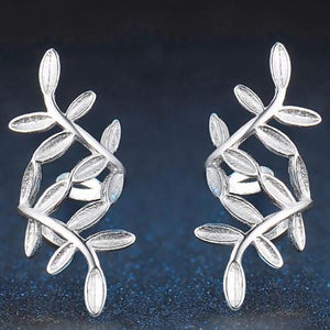 Olive Branch 925-Sterling Sliver Earrings