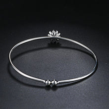 Load image into Gallery viewer, 925 Daisy Sunflower Bracelet Bangle Stackable Jewelry