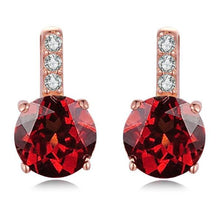 Load image into Gallery viewer, Red Garnet 925 Sterling Silver Stud Earrings