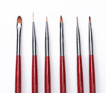 Load image into Gallery viewer, 6 Pcs Nail Brushes Set  UV Gel Gradient Liner Brush Acrylic Painting Pen Manicure Nail Art