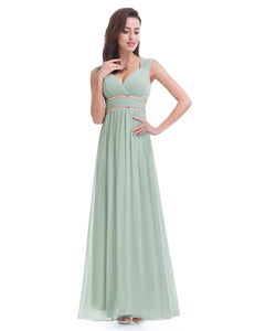 Grecian Style Bridesmaid Dress - Mint Green
