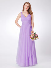 Load image into Gallery viewer, Lavender tulle Bridesmaid Dress