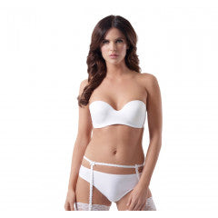 Clearance - Ivory Strapless Bra by Poirier - 126