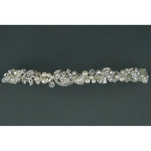 A Crystal & Pearl Diamante Headband/Tiara by Twilight Designs TLT4641