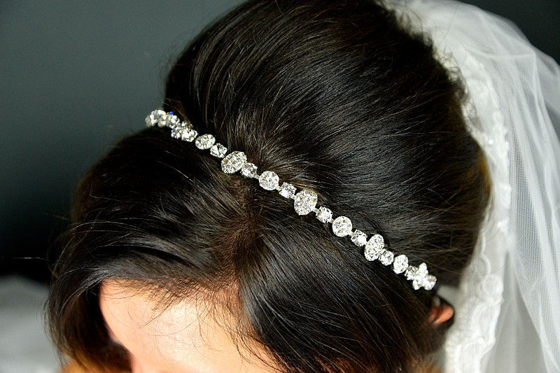Brooklyn Diamante Bridal hair Band