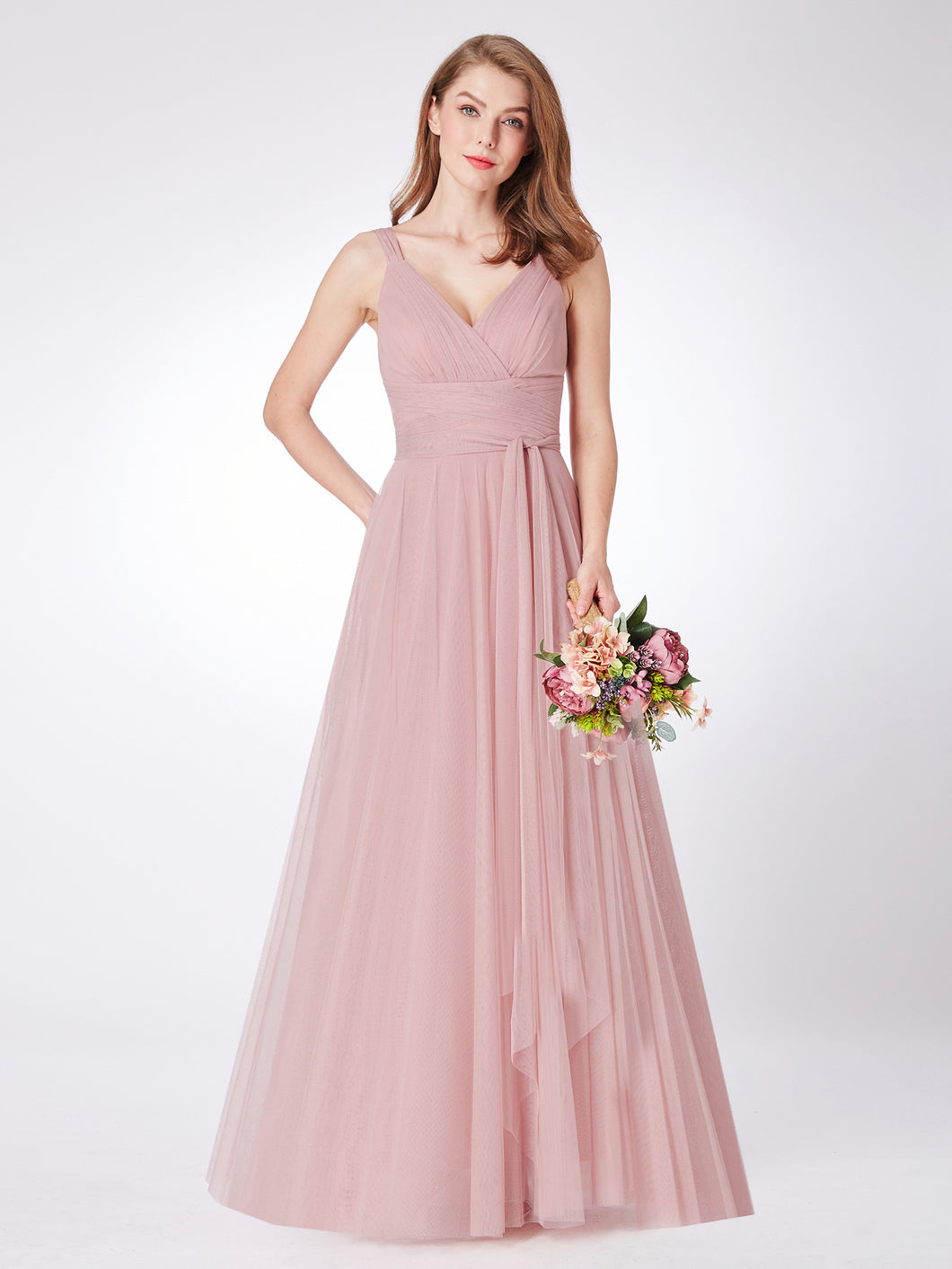 Blush Hues tulle Bridesmaid/Prom Dress - Size 8