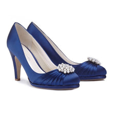 Load image into Gallery viewer, Navy Court Platform Shoes by Paradox London
