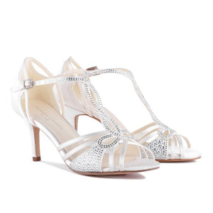 Larissa - Ivory Low Heel Knotted Strappy Sandal by Paradox London