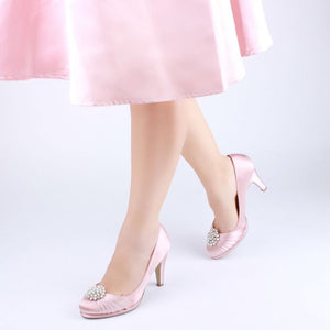 Blush Pink Court Platform Shoes by Paradox London