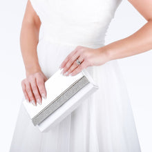 Load image into Gallery viewer, Delia - Ivory Satin Clutch Bag