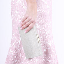 Load image into Gallery viewer, Dionne Champagne Box Clutch Bag