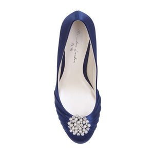 Amaia - Navy Court Platform Shoes by Paradox London
