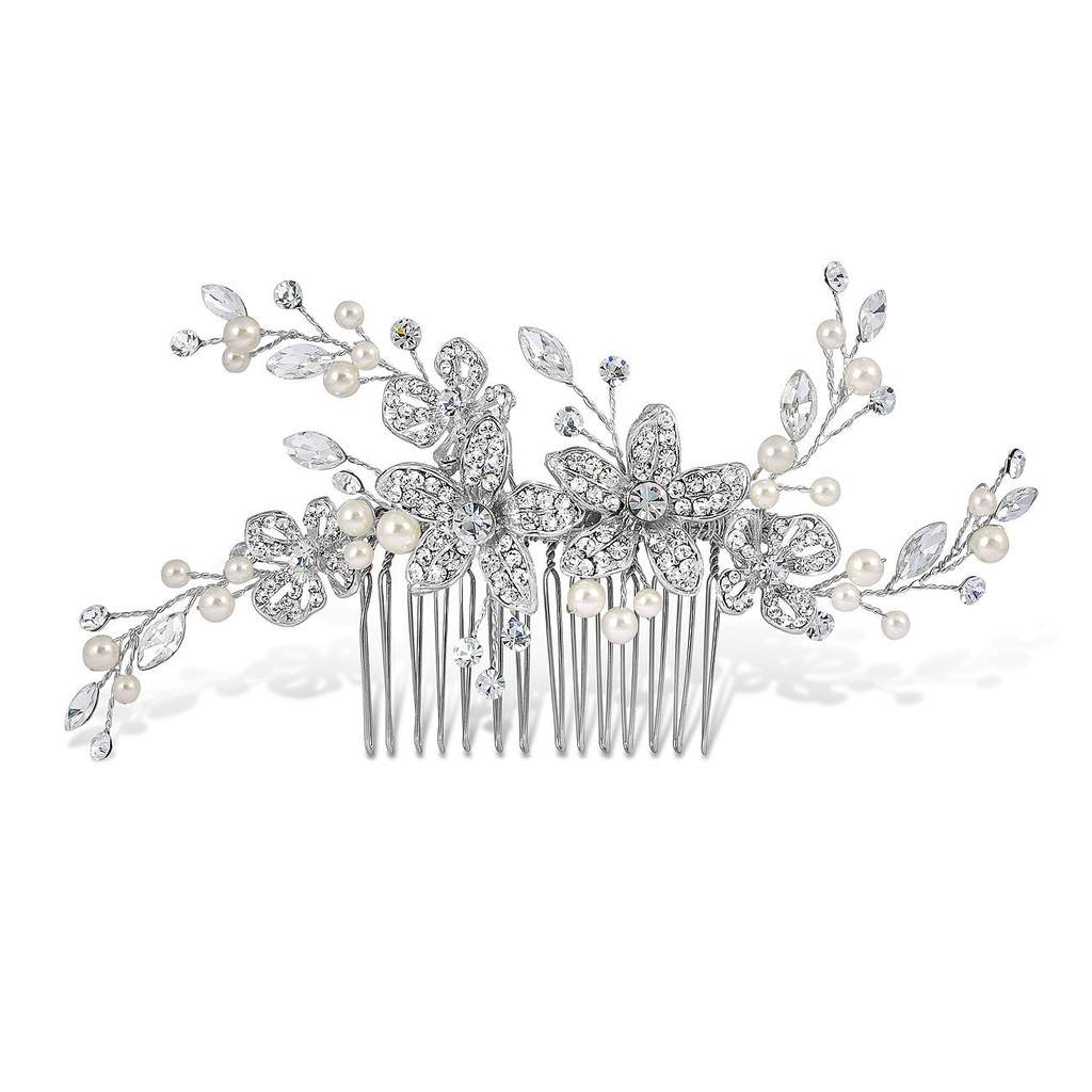 Adele Pearl & Diamante Hair Comb