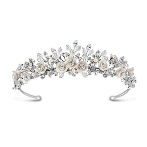 Baccara Vintage Style Inspired Bridal Tiara - Silver or Gold