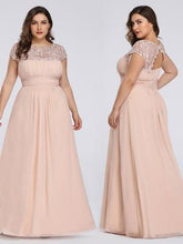 Load image into Gallery viewer, Chiffon Bridesmaid Dress with cap sleeve - Blush Hues