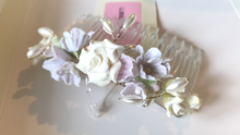 Load image into Gallery viewer, Clearance - Pretty flower girl hair comb by Linzi Jay